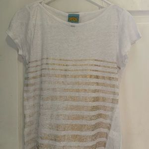 C&C California GOLD Linen Tee Shirt size Medium!!!